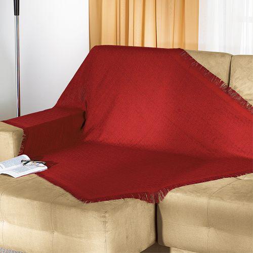 Manta para sof vermelho cereja loja arteemcosm ticos - Manta de sofa ...